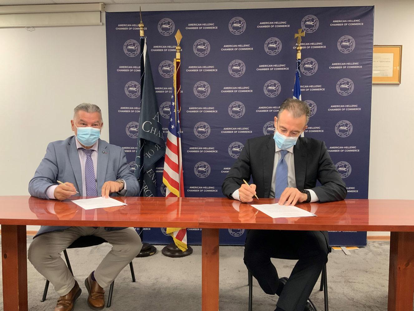 Μνημόνιο Συνεργασίας μεταξύ του Ελληνοαμερικανικού Επιμελητηρίου και του ΚΕ.ΤΕ.Κ.Ν.Υ. – Ελληνικού Ινστιτούτου DRG